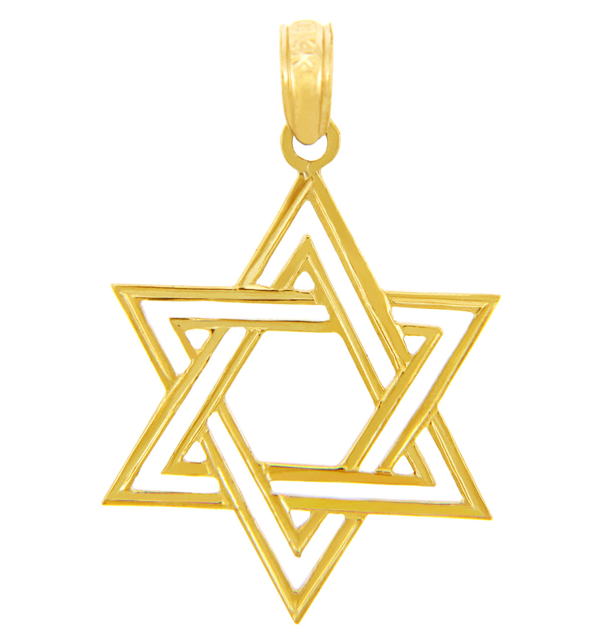 Jewish charms and pendants double gold star of david pendant aloadofball Image collections
