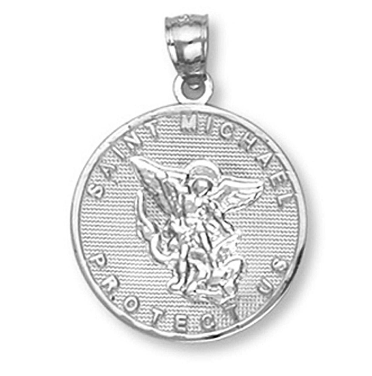 White gold saint michael pendant mozeypictures Image collections