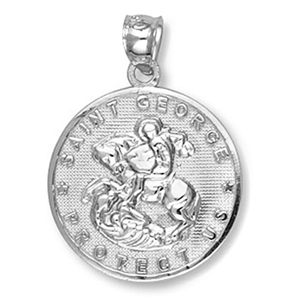 White gold saint george pendant aloadofball Image collections