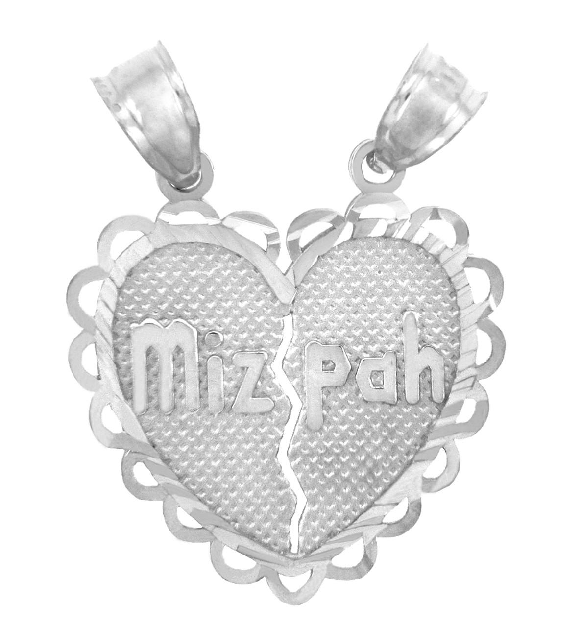 Jewish charms and pendants white gold mizpah jewish pendant aloadofball Choice Image