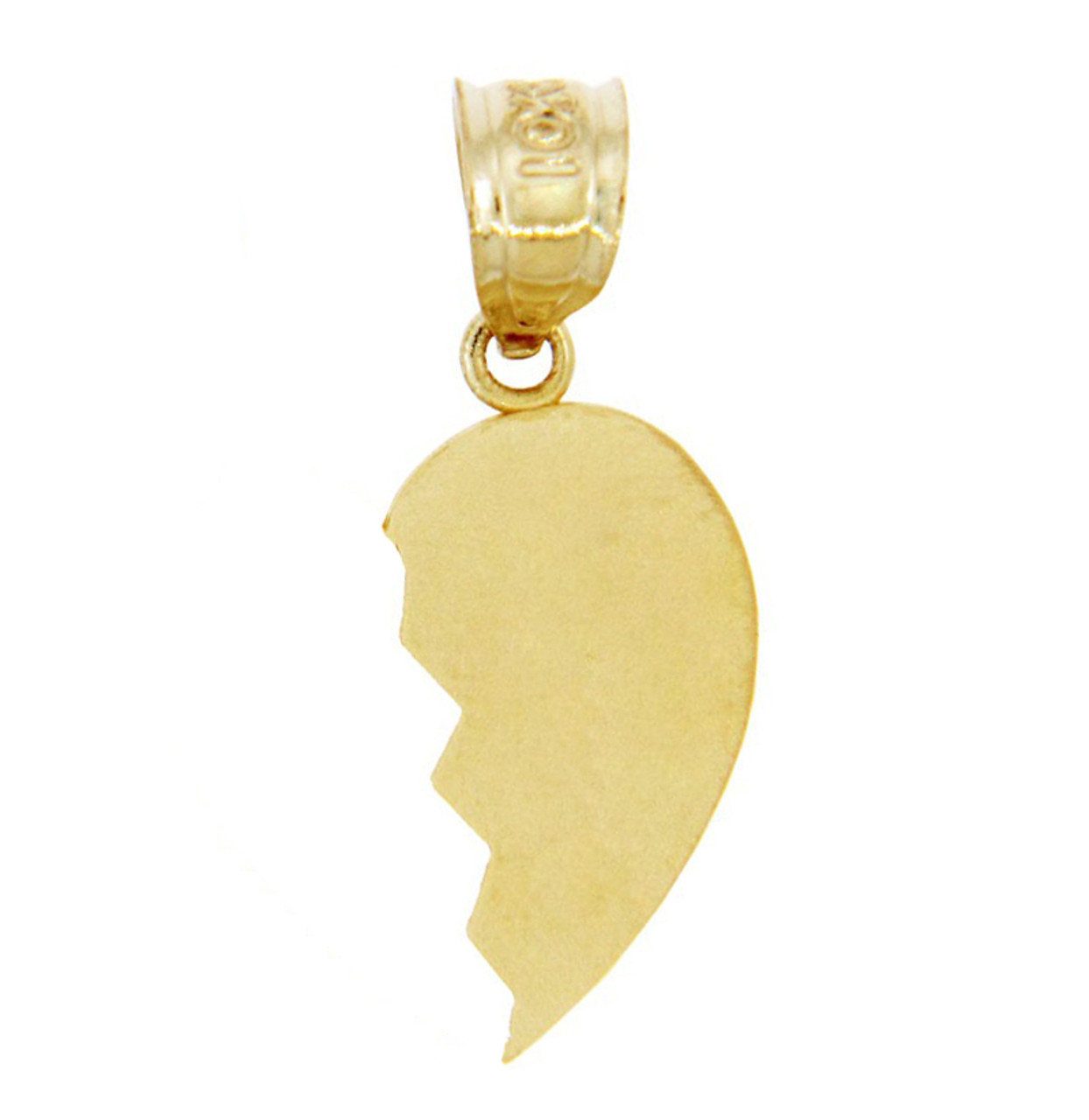 Gold broken heart right half pendant aloadofball Choice Image