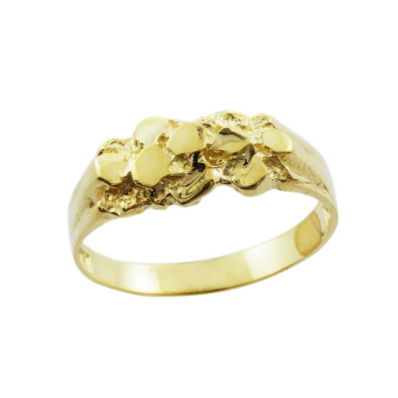 Yellow Gold Nugget Baby Ring - Factory Direct Jewelry
