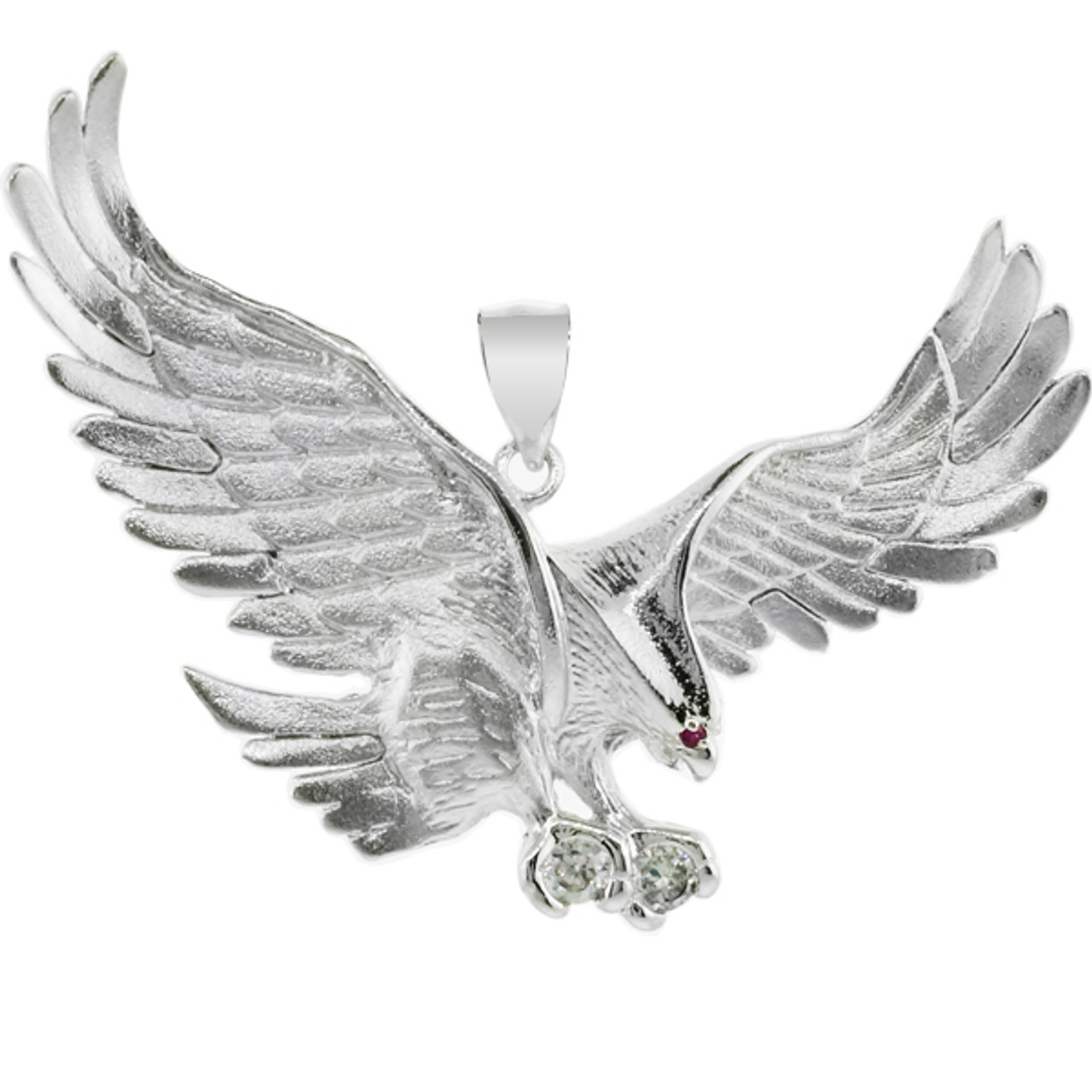 925 sterling silver eagle pendant with cz large factory direct 925 sterling silver eagle pendant with cz large mozeypictures Gallery
