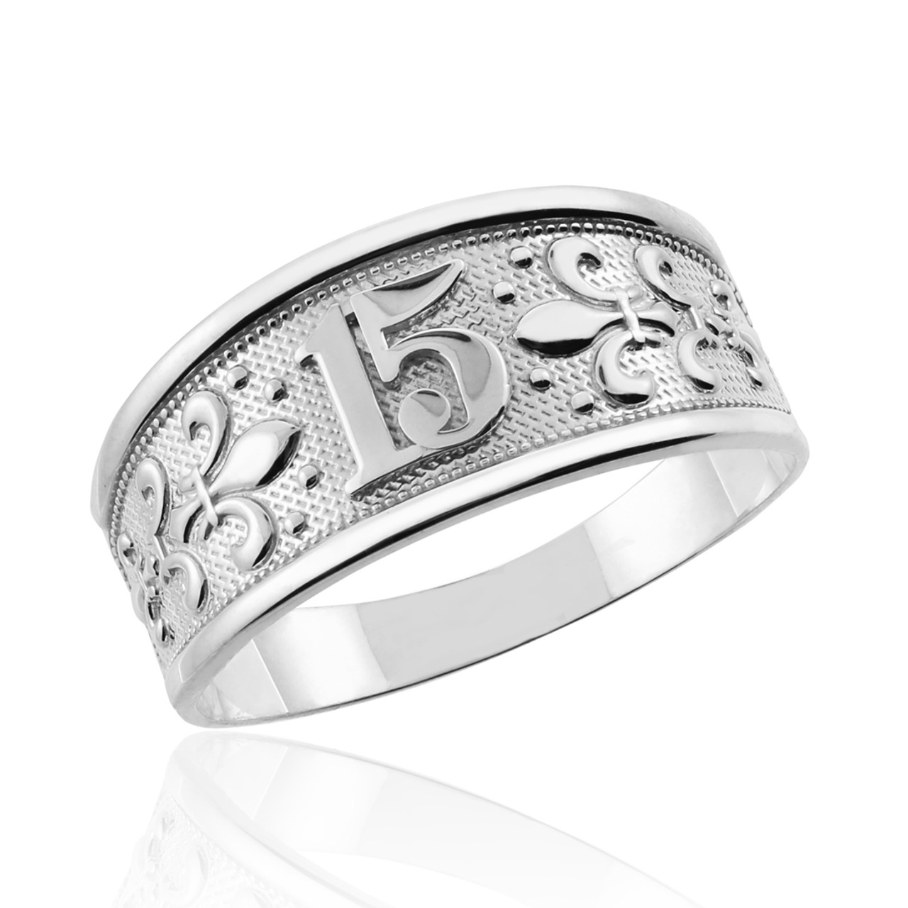 jewelry sterling stones c anos cz quinceanera finished silver ring rings rhodium dolphin inch