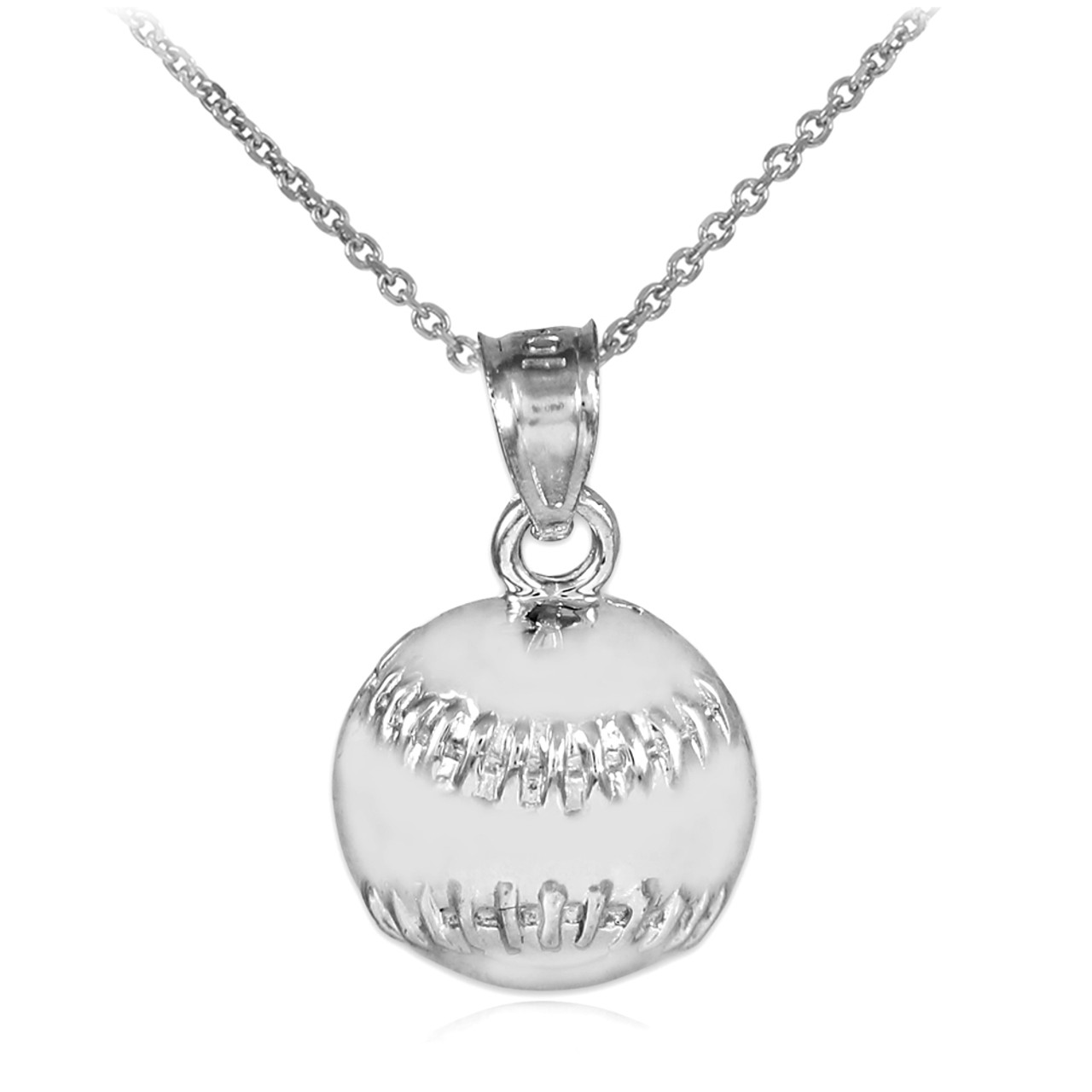 faith cross silver pendant all baseball bat softball bats chain youth front products in with necklace