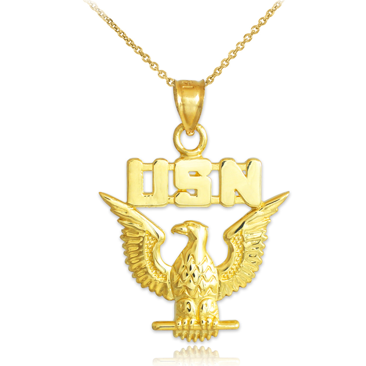 Us navy pendant gold gold us navy pendant necklace aloadofball Choice Image