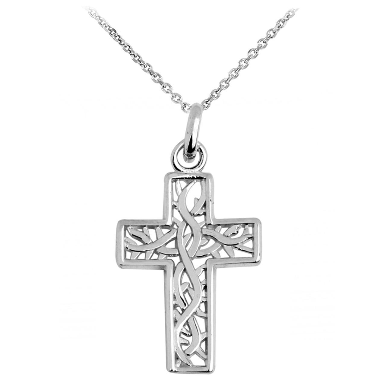 Gold celtic irish trinity cross pendant necklace white gold celtic irish trinity cross pendant necklace biocorpaavc