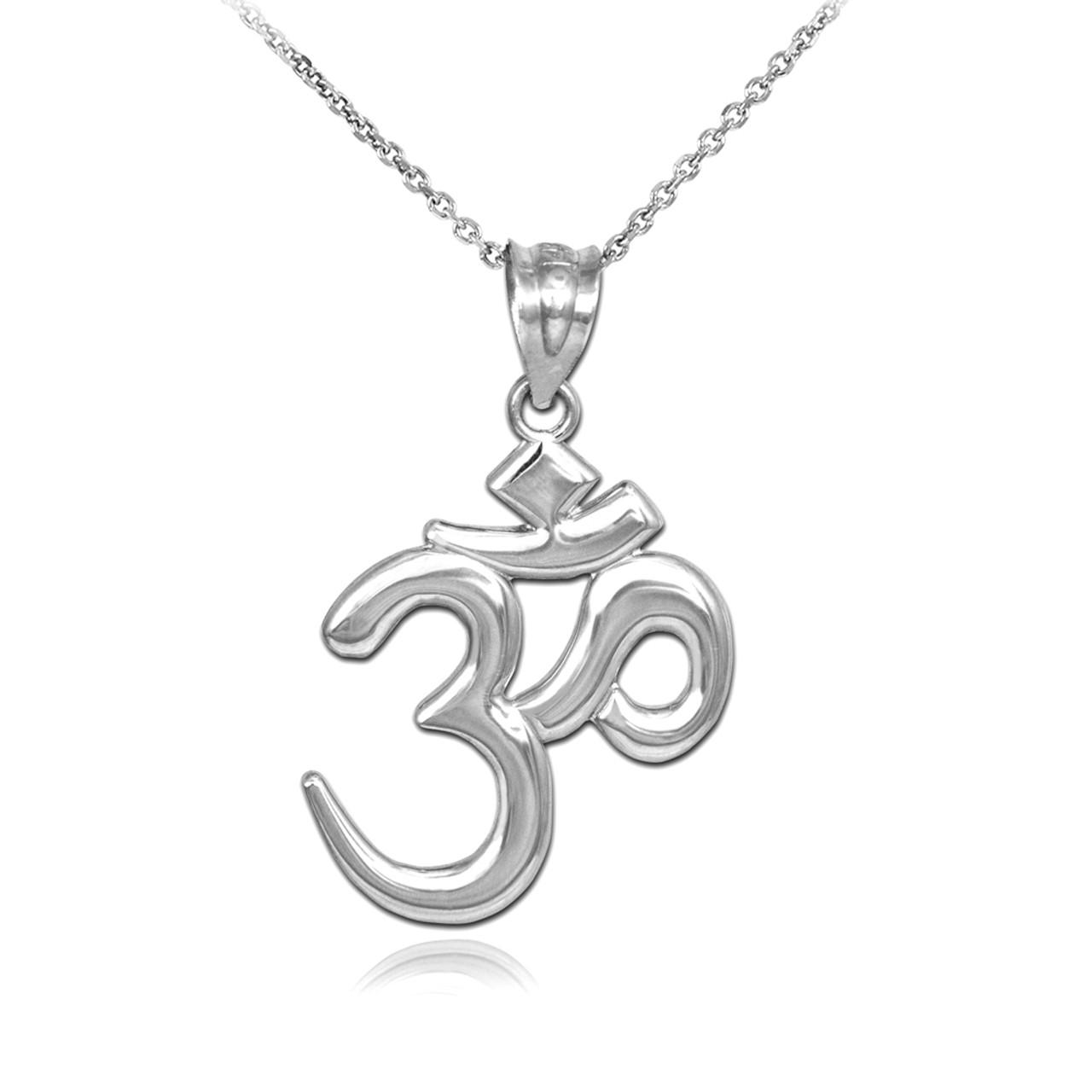 Solid silver omohm pendant necklace aloadofball Images