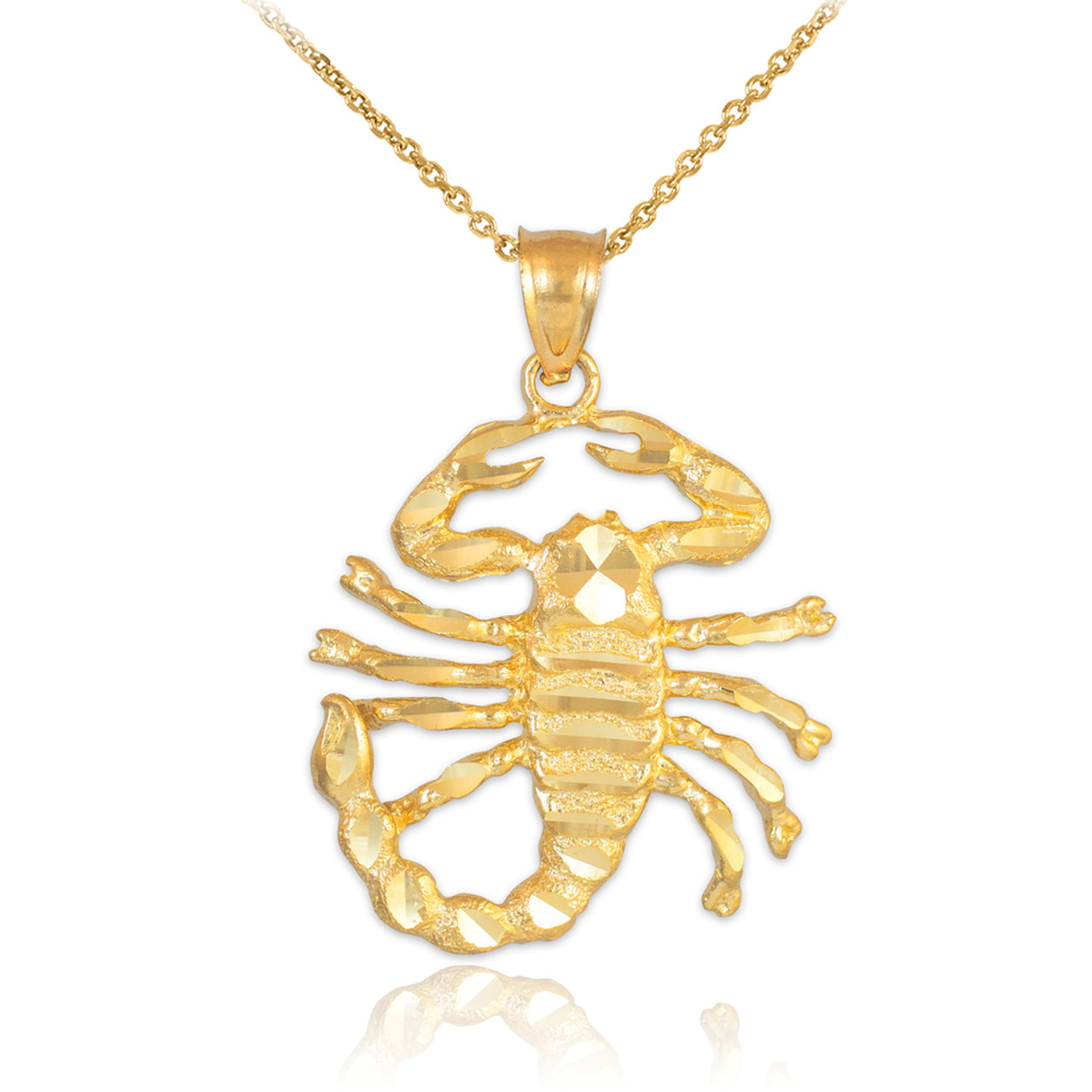 Gold scorpion pendant gold scorpion pendant necklace mozeypictures Images