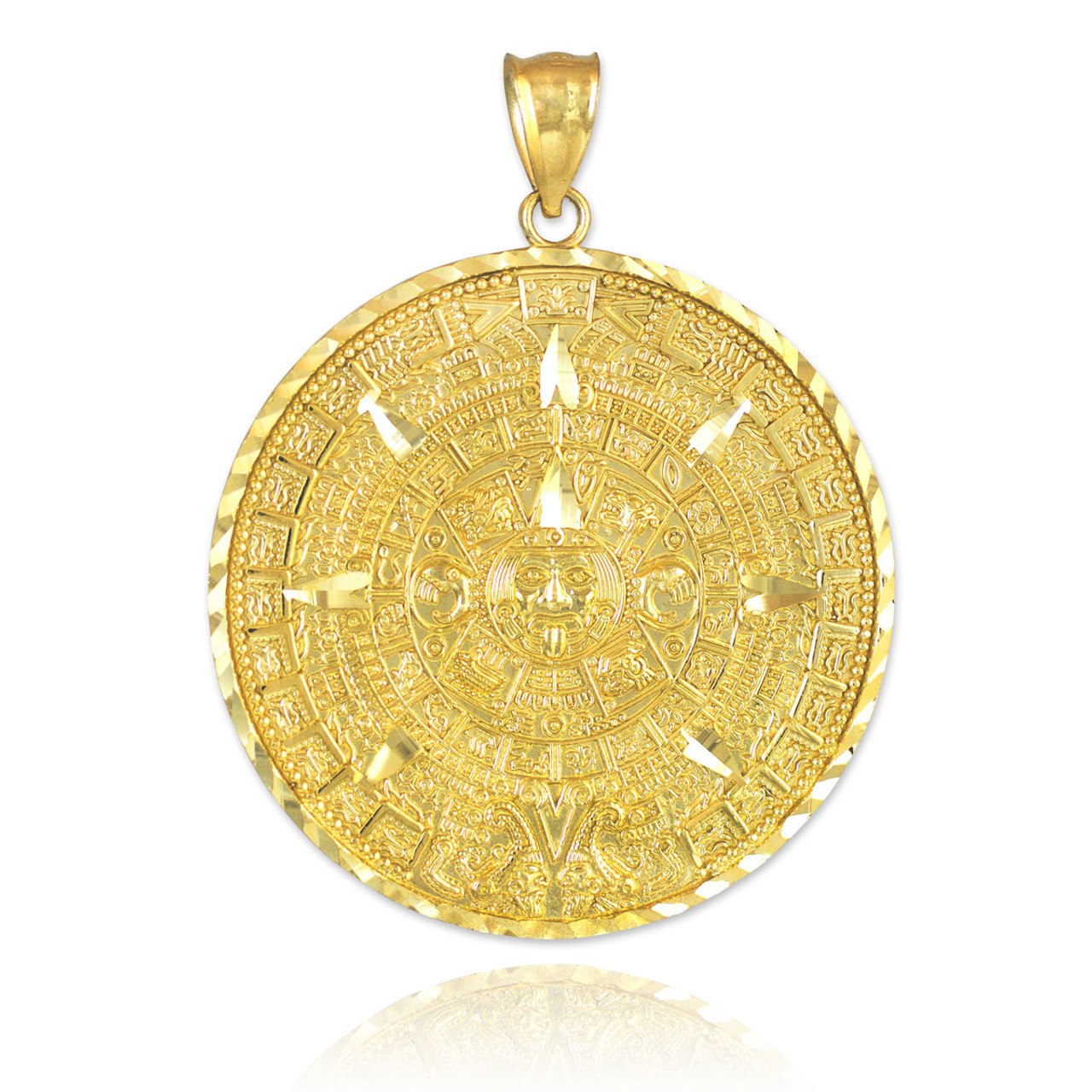 immaculate mary gold virgin jewelry large miraculous filled conception sgs pendant medallion bling medal