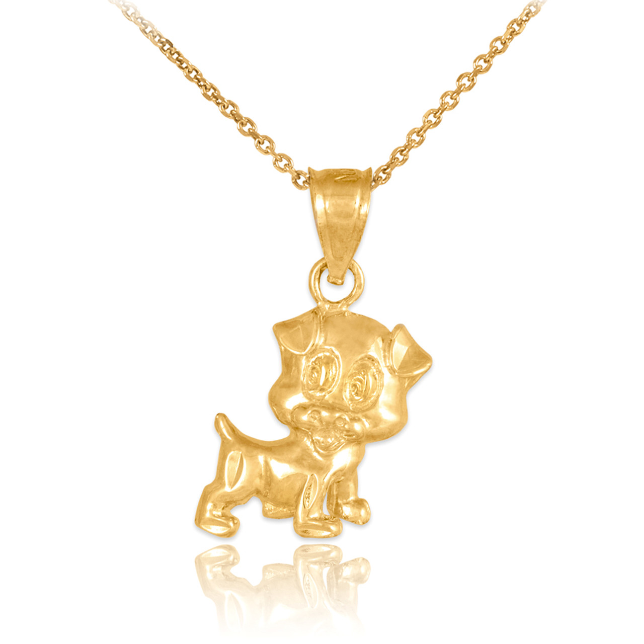Gold Cute Puppy Charm