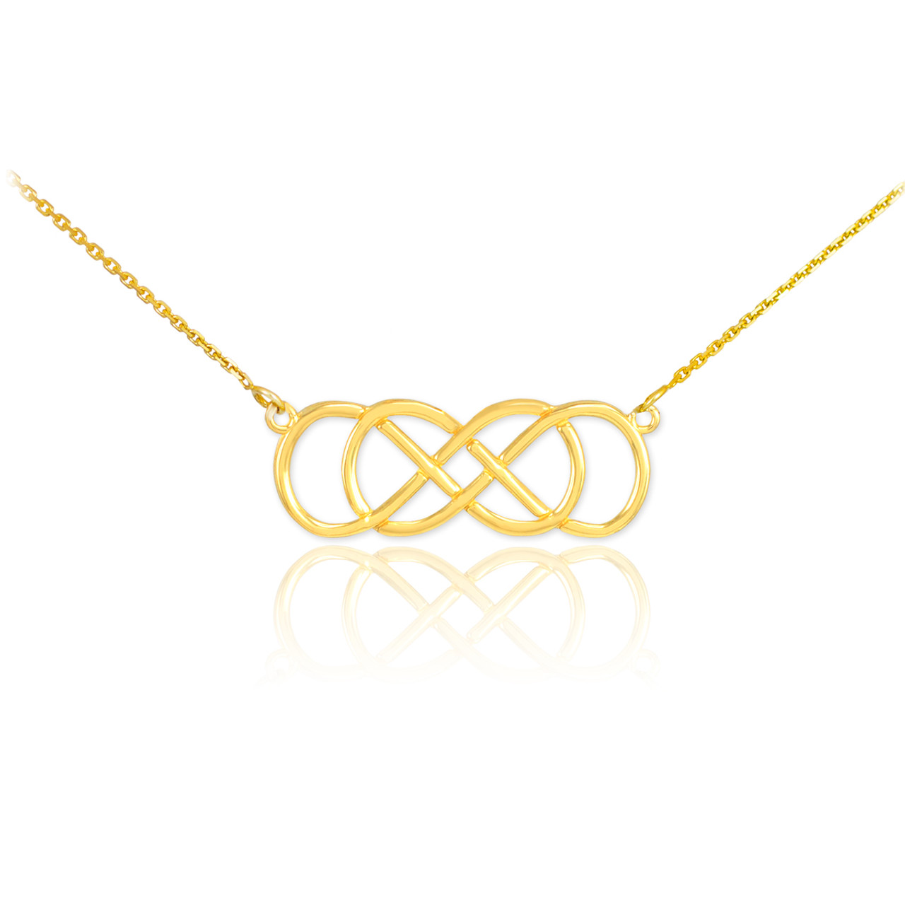 diamond row necklace bishop yellow winsor gold trapeze double