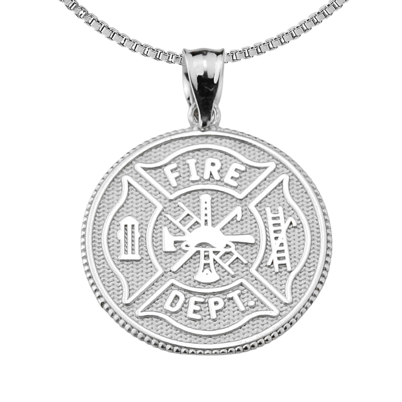 cross firefighter maltese blk fire dmc decal firewife pendant wife