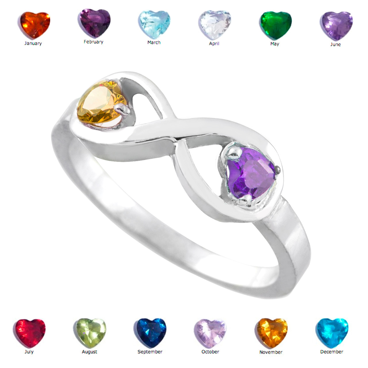 with silver sapphire wedding september claddagh rings birthstone ring