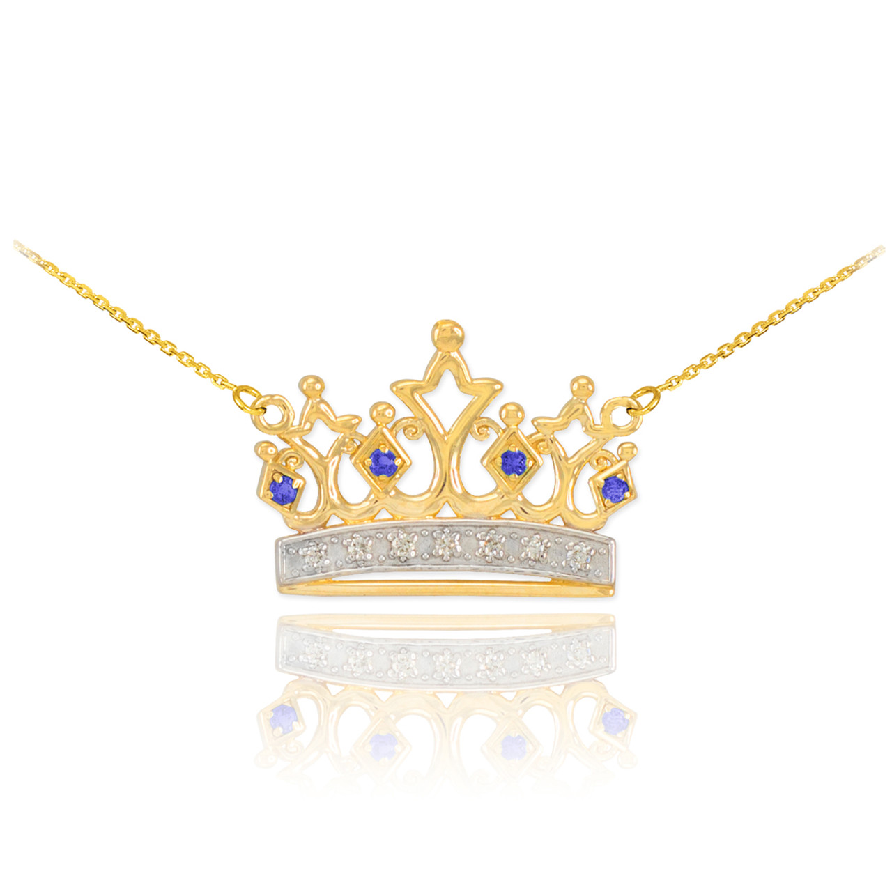 gold rhinestones chain pendant necklaces nickel arrival cz box color free luxury and products new queen fashion silver necklace velvet crown elegant