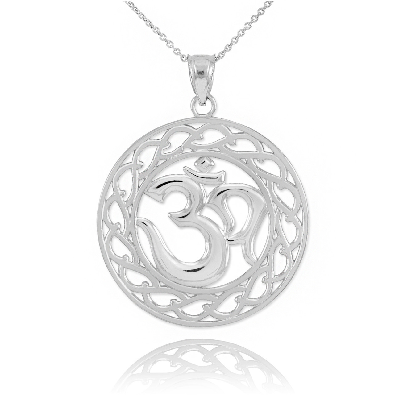 Sterling silver om symbol pendant necklace om pendants sterling silver om symbol pendant necklace aloadofball Gallery