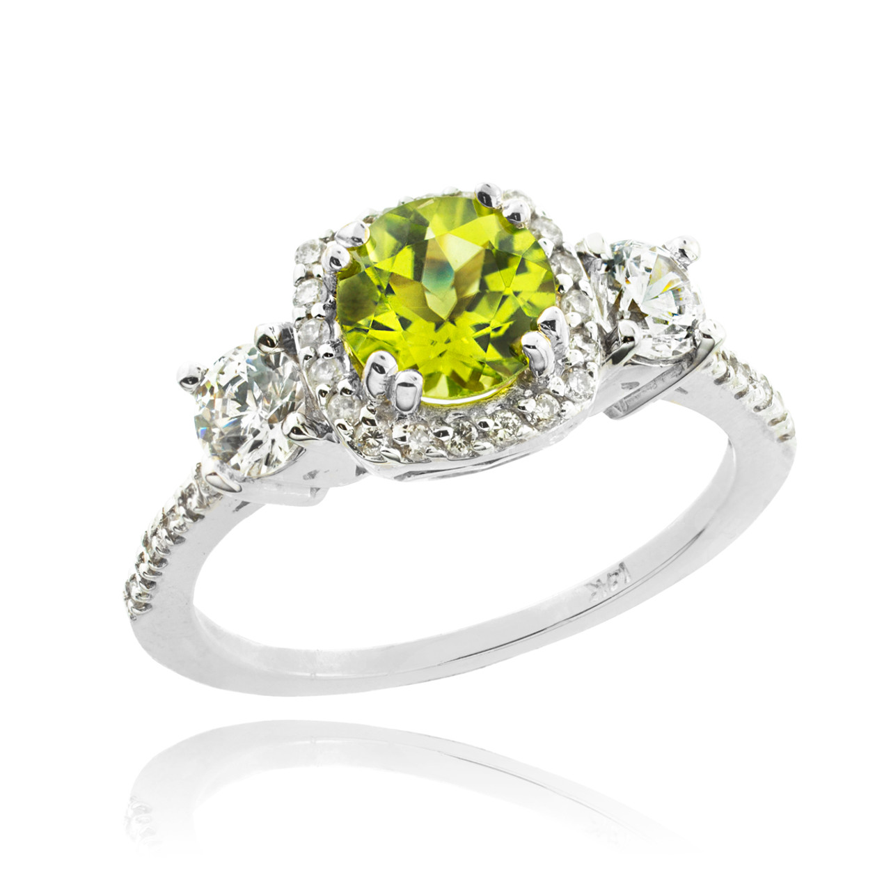 products cut gold ring of white pave lord engagement rings emerald wedding diamond peridot gem