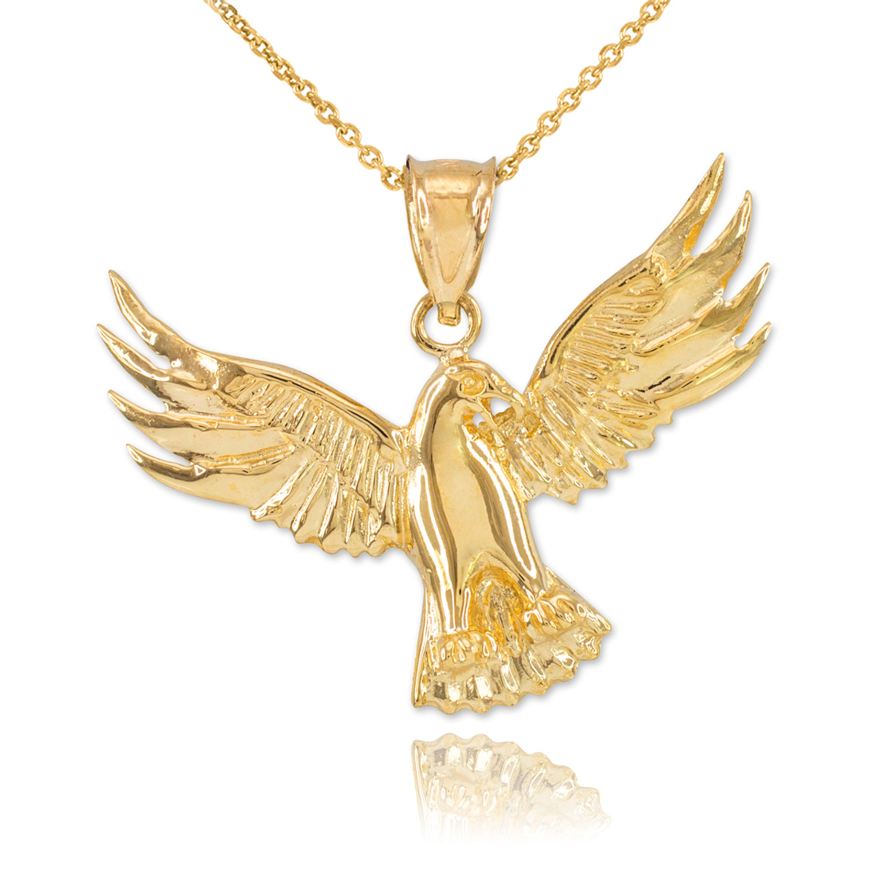 Gold falcon pendant necklace falcon pendants gold falcon pendant necklace aloadofball Image collections