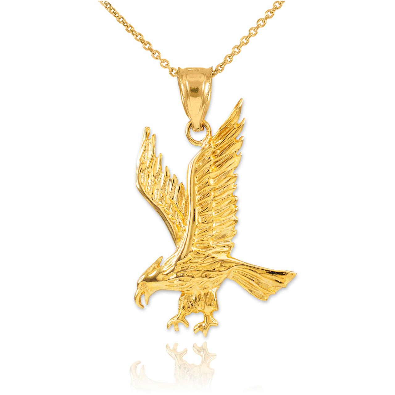Solid Gold Eagle Pendant Necklace Eagle Pendants