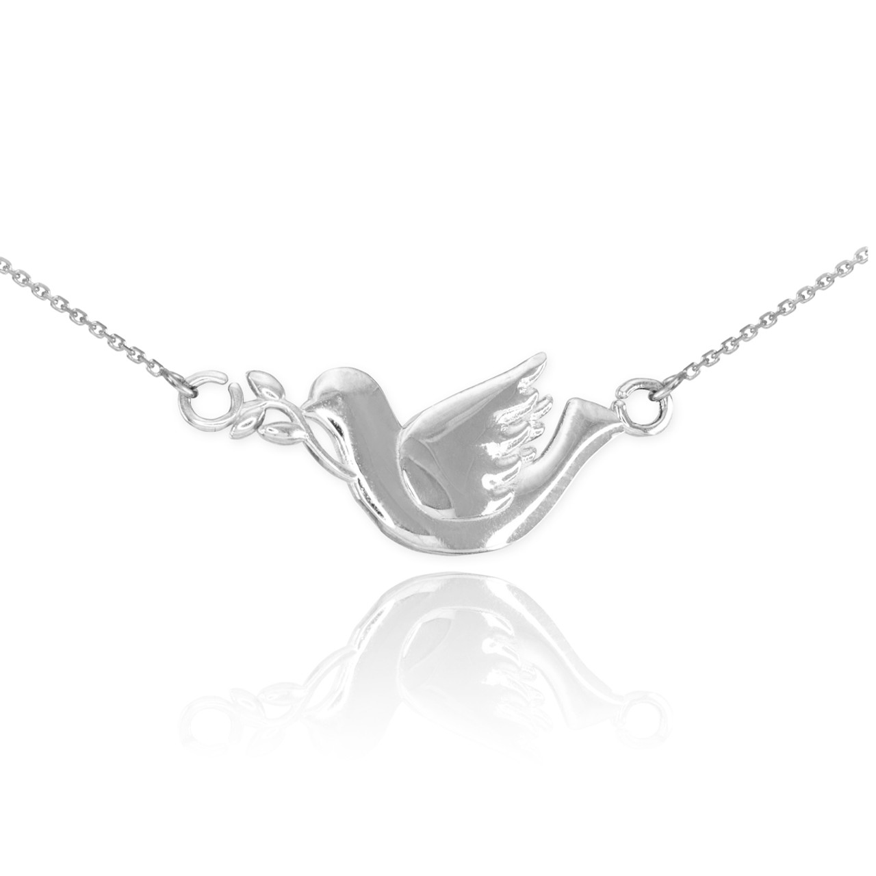 Sterling silver dove necklace dove bird pendants bird necklaces sterling silver dove necklace aloadofball Choice Image