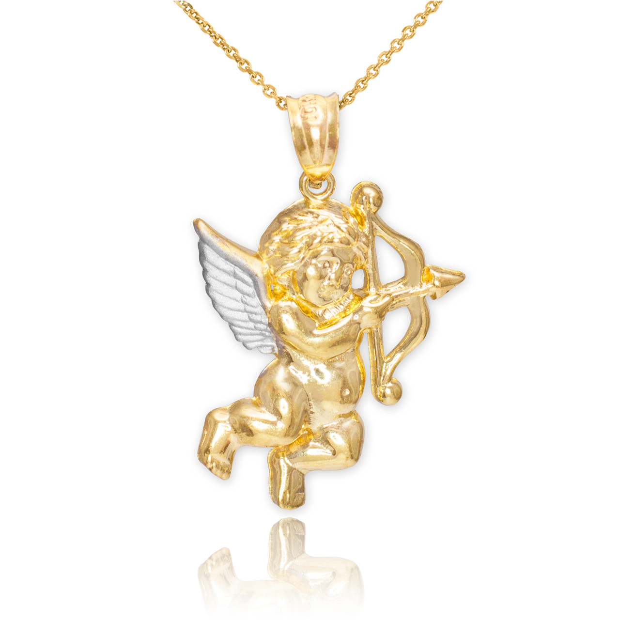 holiday remijewels yellow img vintage and charm two christmas angel white tone gold product necklace