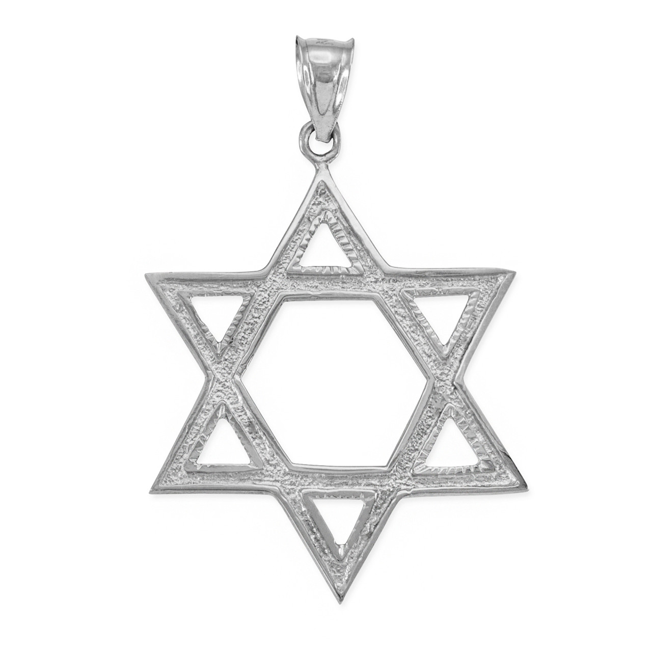 Silver star of david pendant 17 inches sterling silver star of david pendant 17 inches aloadofball Image collections