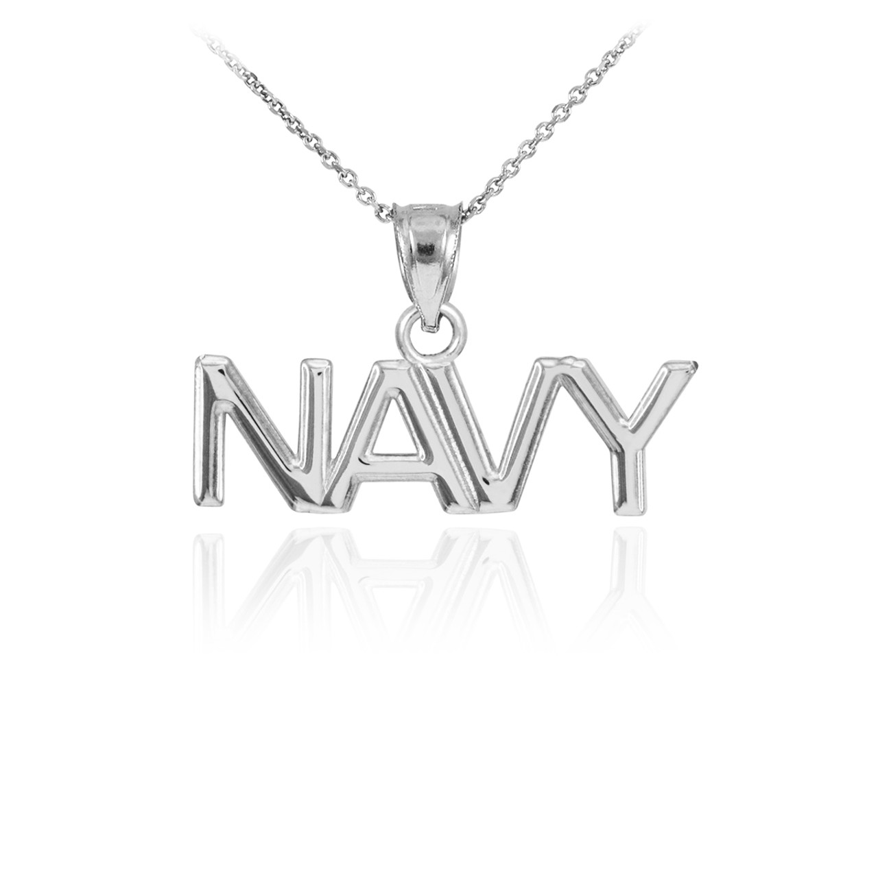 White gold navy pendant necklace mozeypictures Images