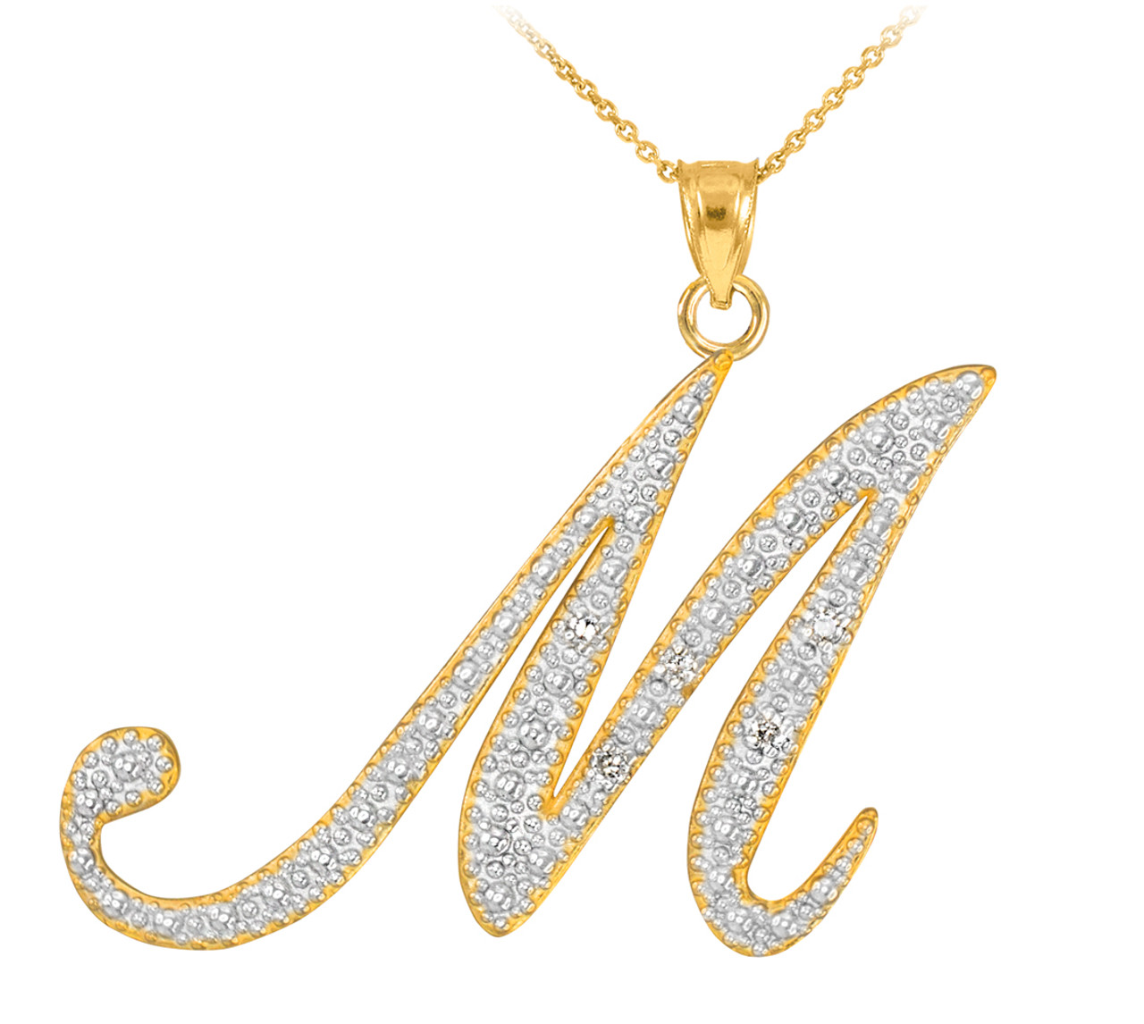 necklace initial sterling diamond silver b pendant