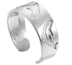 Dolphin Silver Toe Ring