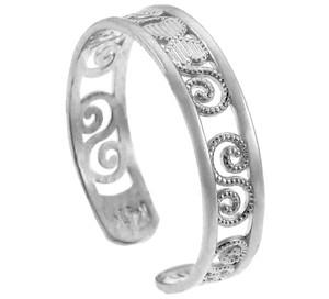 Classy White Gold Toe Ring