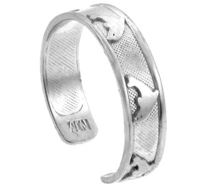 Bold Dolphin White Gold Toe ring