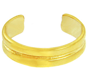 Double Classic Yellow Gold Toe Ring