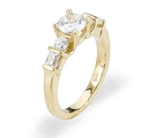 Ladies Cubic Zirconia Ring - The Petra Diamento