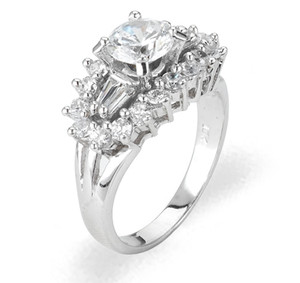 Ladies Cubic Zirconia Ring - The Danica Diamento