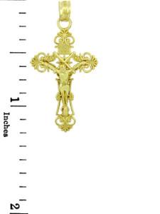 Yellow Gold Crucifix Pendant - The Radiance Crucifix
