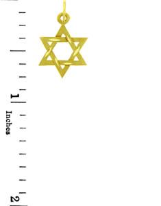 Jewish Charms and Pendants - 14K Yellow Gold Diamond Cut Star of David Pendant