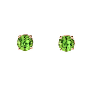 10K Rose Gold  August Birthstone Peridot (LCP)Earrings