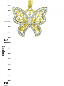 White Gold  Butterfly Two Tone
