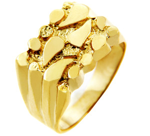 Men's Hero Solid Gold Nugget Ring