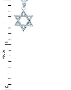 Jewish Pendants - Silver Star of David Pendant
