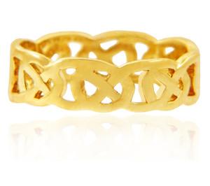 Yellow Gold Quadrum Trinity Mens Ring Band