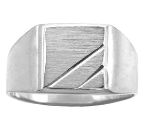 The Phoebus Solid White Gold Signet Ring