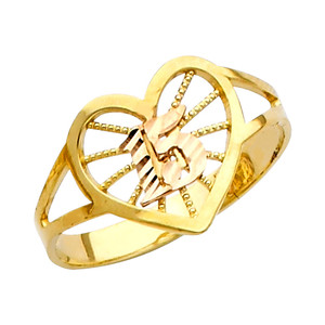 """15 Anos"" Yellow Gold Ring"