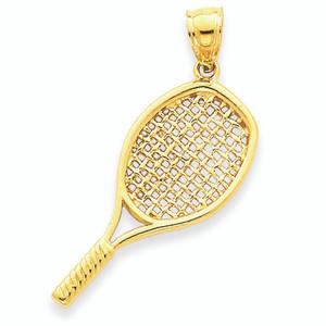14K  Gold Large Tennis Racket
