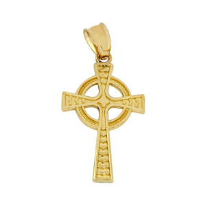 Gold Celtic Cross Pendant