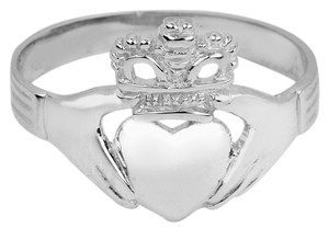 Silver Claddagh Ring Ladies Classic