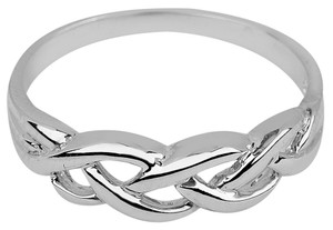 Silver Trinity Weave Ring