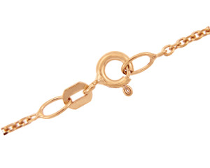 Gold Chains: Rolo Cable Rose Gold Chain 1.38mm