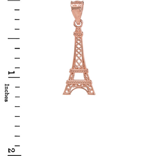 Rose gold eiffel tower pendant necklace aloadofball Image collections