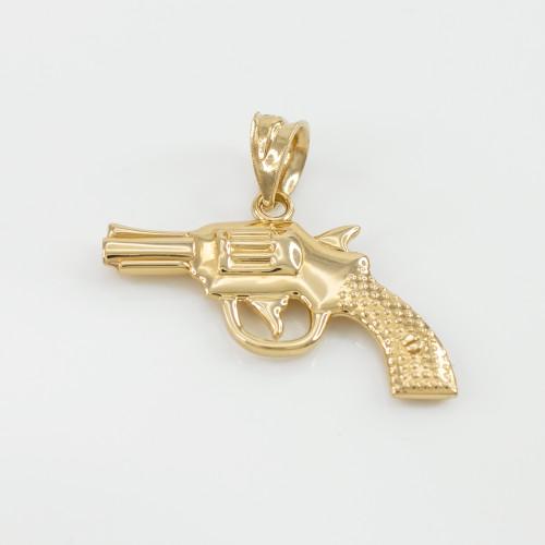 Solid gold revolver pistol gun pendant necklace revolver pistol solid gold revolver pistol gun pendant necklace aloadofball Gallery